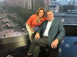 Con Debora Peres Volpin